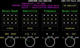 ADC/SWCモード画面