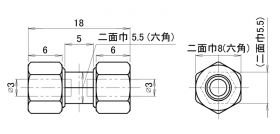 カップリング MHU-7A01の外観図