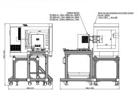 ブレーキ部と恒温槽外観図