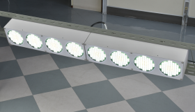 2등 횡축 연결의 예 발광면